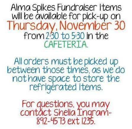 Alma Spikes Fundraiser Pick-up