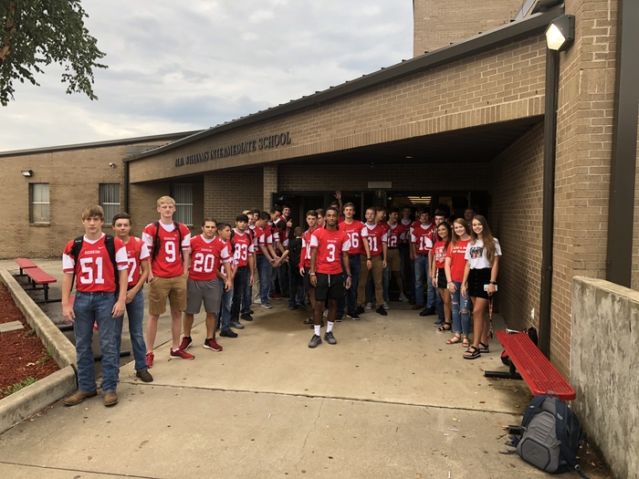 Football Friday Door Greeters!