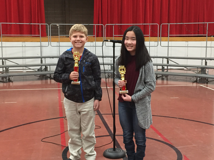 5th Grade Spelling Bee Winners