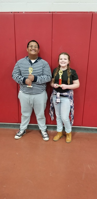 6th Grade Spelling Bee winners