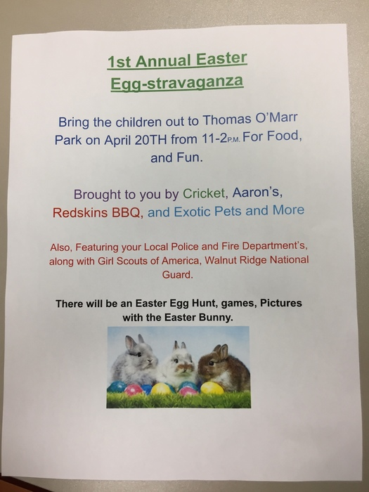 1st Annual Community Easter Egg-stravaganza