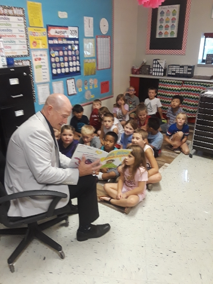 Mr. Martens Reading to Class