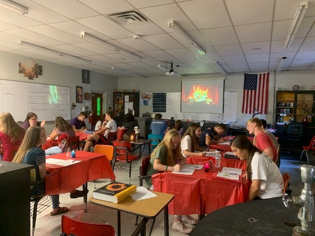 Some of Mrs. Vickrey's classes last week took part in an organelle speed dating project.