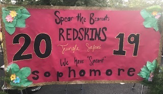 The Sophomores sign was OUTSTANDING!!