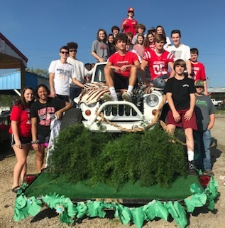 The floats are starting to come together at PHS as students and teachers prepare for the Homecoming parade!