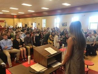 The National Honor Society induction ceremony was held today at PHS.
