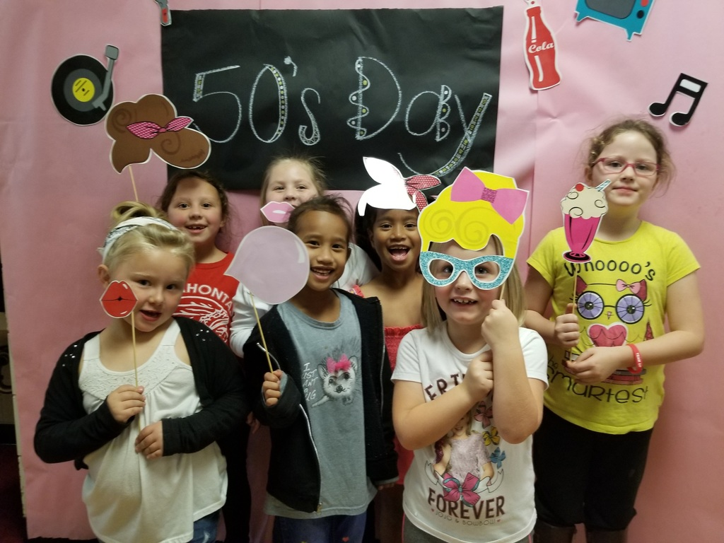 First Grade Celebrated the 50s today.  (50th day of School too)