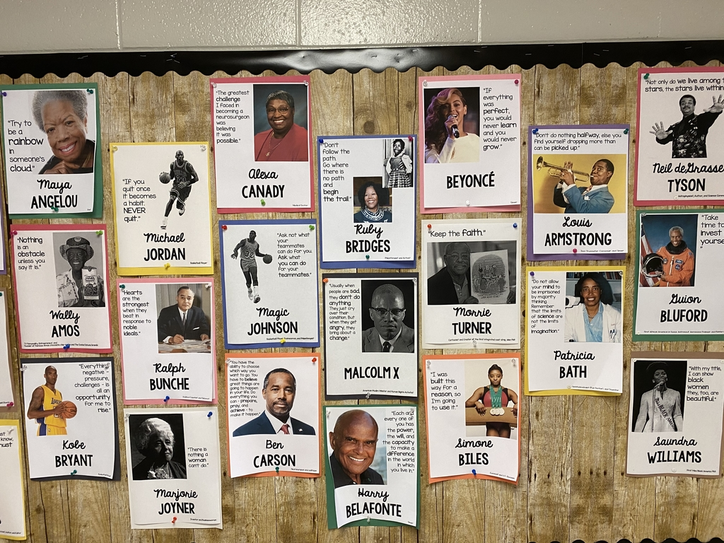 One of the Black History month boards.